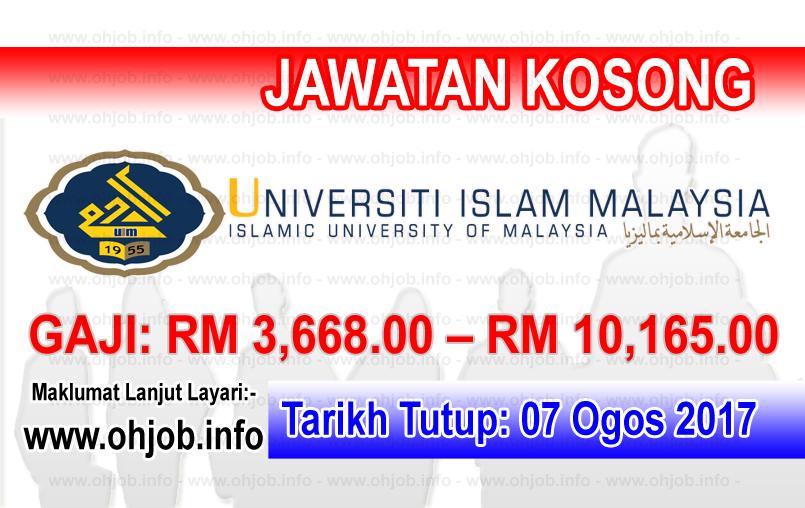 Jawatan Kerja Kosong Universiti Islam Malaysia - UIM logo www.ohjob.info ogos 2017