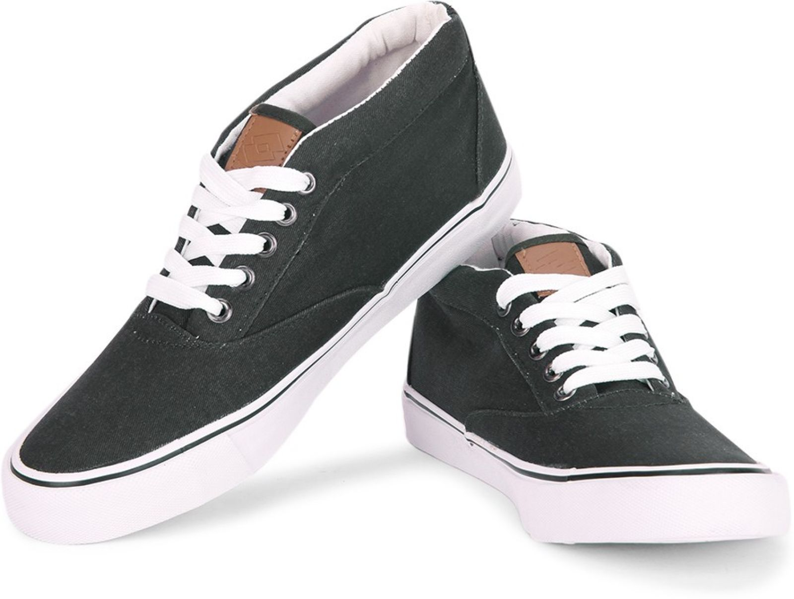 flipkart buy lotto aaron mid canvas shoes black white