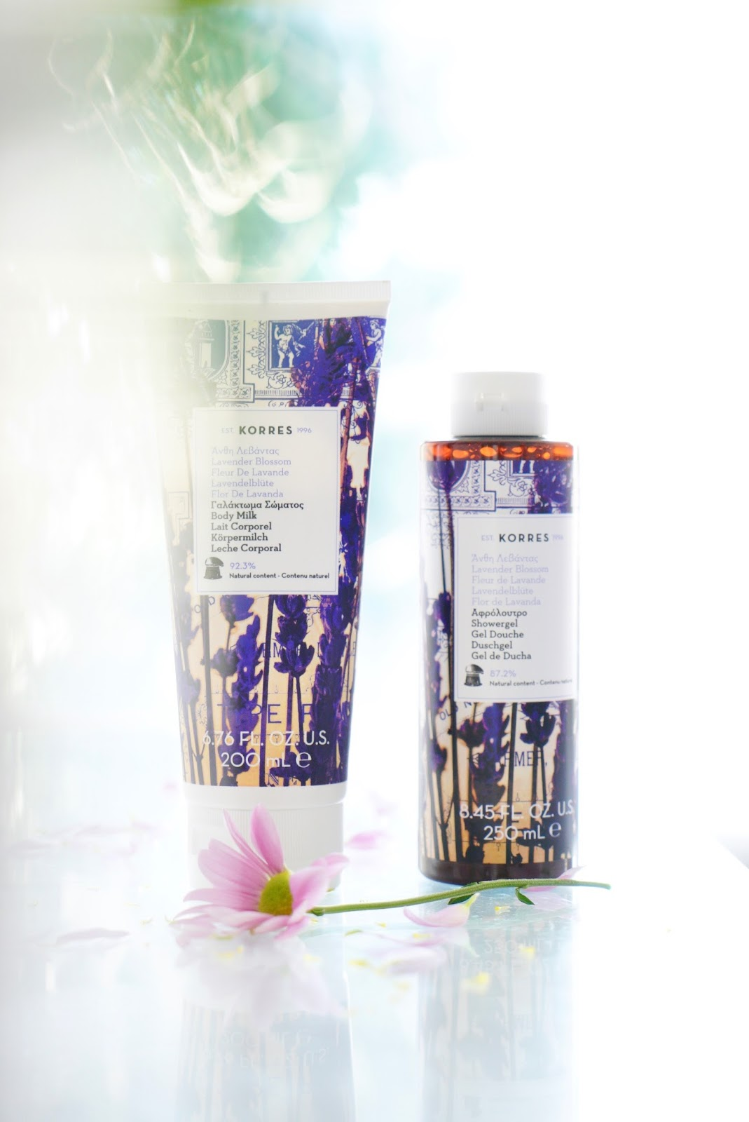 Korres lavender blossom bath and body