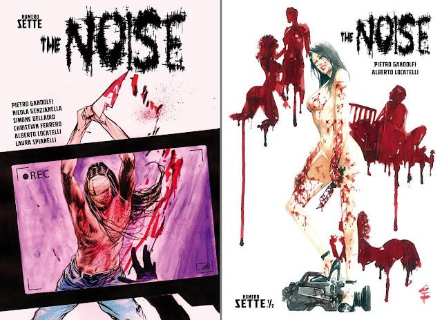 The Noise: cover degli albi 7 e  7.5