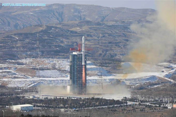 Cooperação Brasil China envia satélite ao espaço