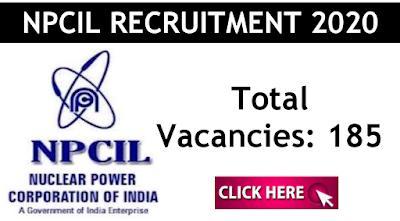 NPCIL Recruitment 2019 apply online for 185 Stipendiary trainees Rawatbhata