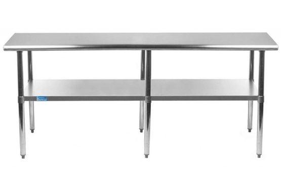 upgraded stainless steel commercial equipment work tables undershelves