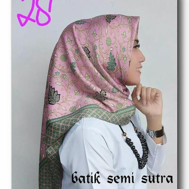 Jilbab Batik Semi Sutera Batik Sutra Lembut Halus Terbaru