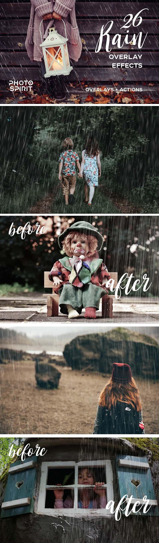 Rain Photo Overlay Effects Pack