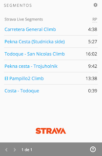 widget segmentos strava garmin connect