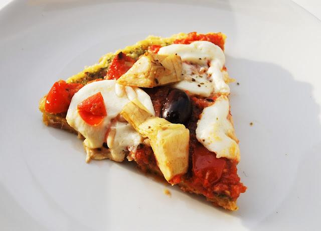 Pizza farine de pois chiches