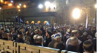 Miles de personas dan Gracias a Hashem por el Estado judío