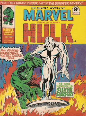 Mighty World of Marvel #140, Hulk vs Silver Surfer