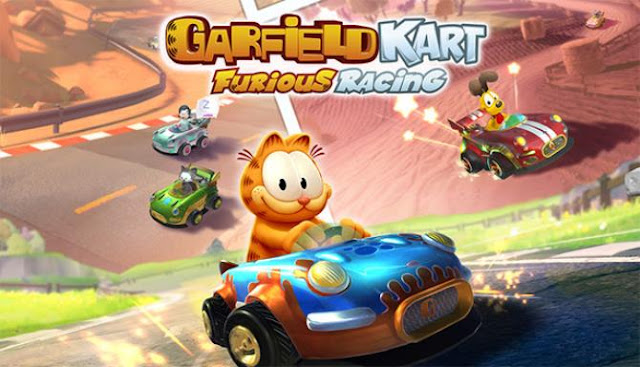 Garfield Kart Furious Racing an exciting, cartoony race. Meet the long-beloved, fat red cat Garfield, who decided to compete with his old friends in stunning races.
