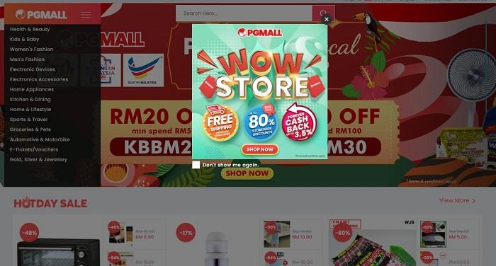 PG Mall Malaysia Cashback