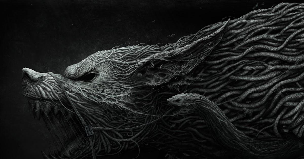 Evil Dark Fantasy Girl Wallpaper Hd Hd Wolf And Snake