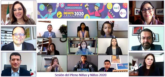 Niñas y niños sesionan como comisionados del INAI y destacan la importancia de proteger los datos personales