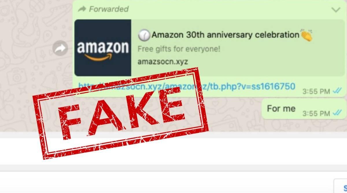 Amazon fake whatsapp link
