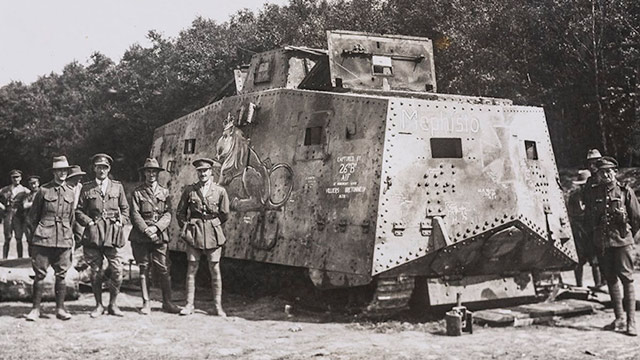 German World War I tank worldwartwo.filminspector.com