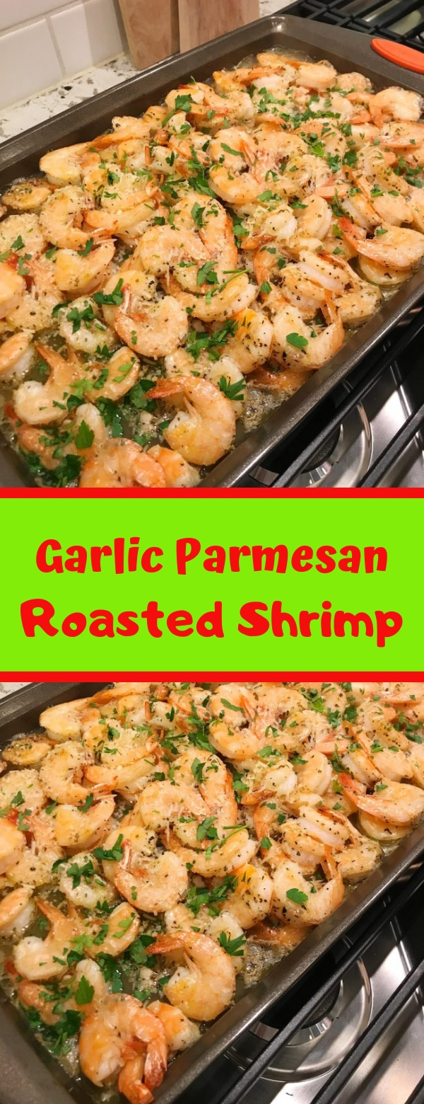 Garlic Parmesan Roasted Shrimp #garlic #parmesan #shrimp #dinner
