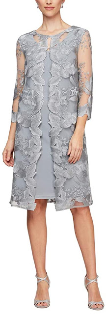 Classy Grey Mother of The Groom Dresses