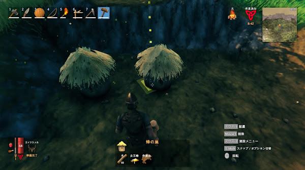 Valheim2 巣箱の設置画像
