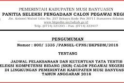Pengumuman Jadwal Ujian SKB CPNS Kabupaten Musi Banyuasin