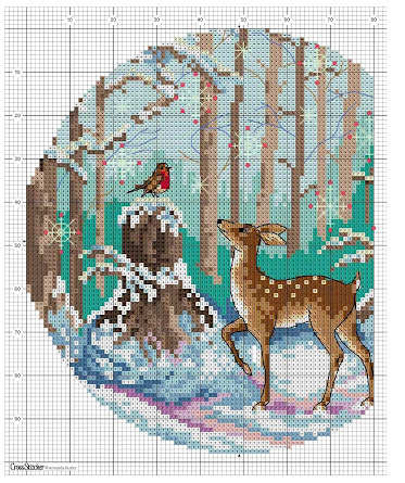 Magic of a winter -#crosstitch project  pattern free