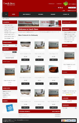 Free osCommerce 2.3.3 Template for Couch Store