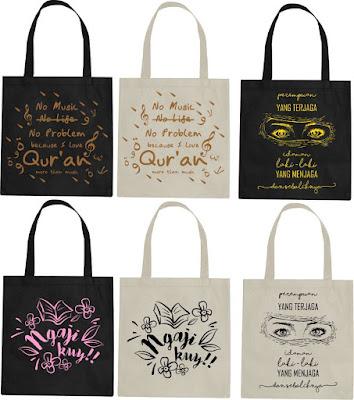 Jasa Pembuatan Tote Bag Sablon Lusinan Murah