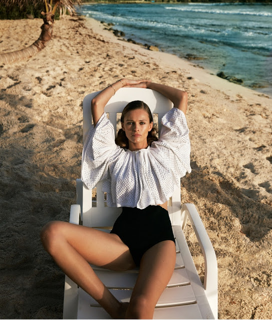 Edita Vilkeviciute beach editorial - summer vacation photoshoot - fashion blog