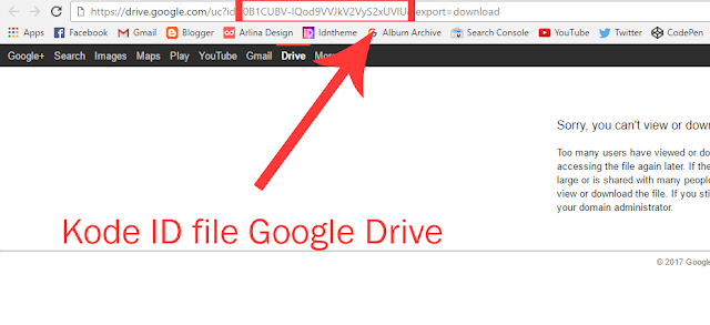 Cara Download File di Google Drive yang Limit Akses