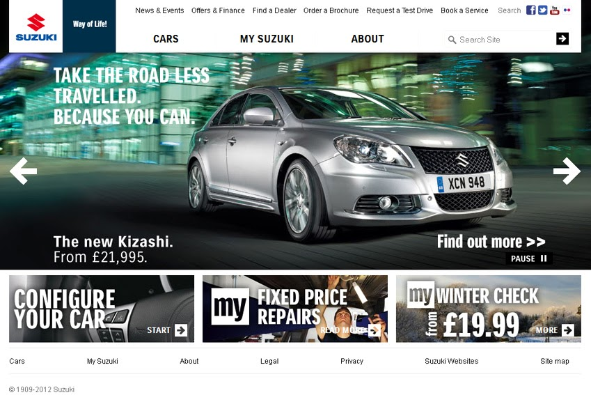Suzuki Cars UK launches new website | Wheelsology.com ...