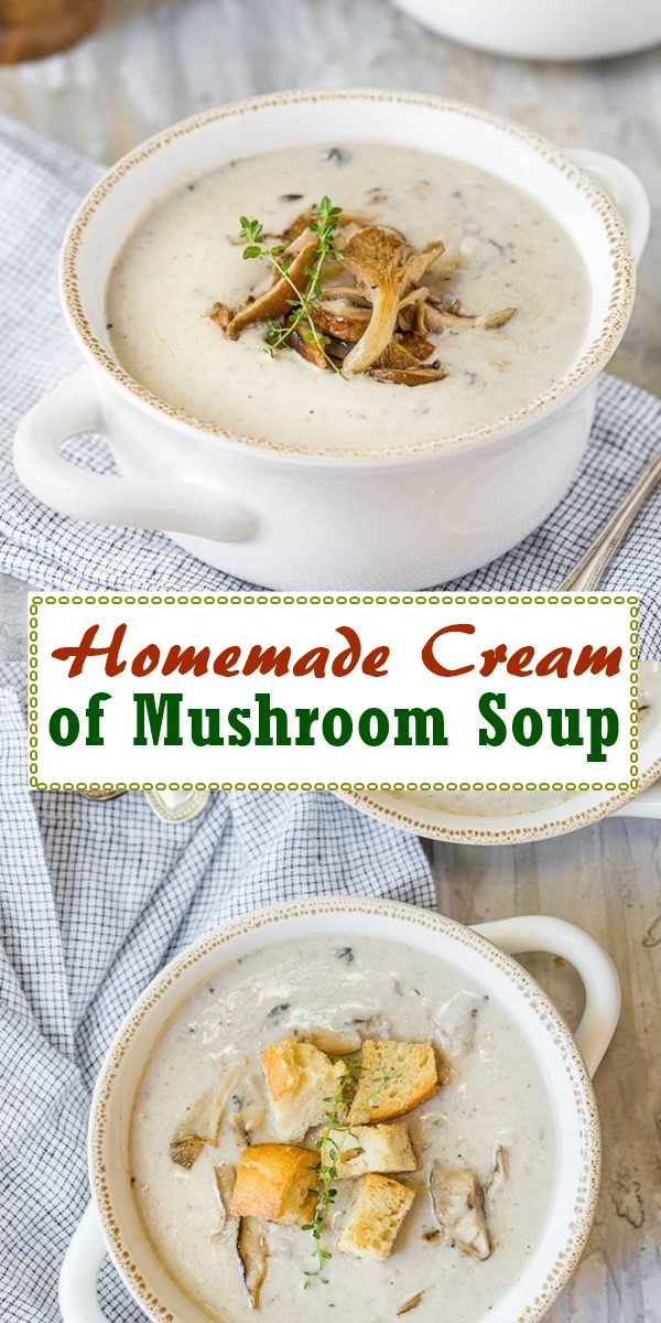 Homemade Cream of Mushroom Soup #souprecipes