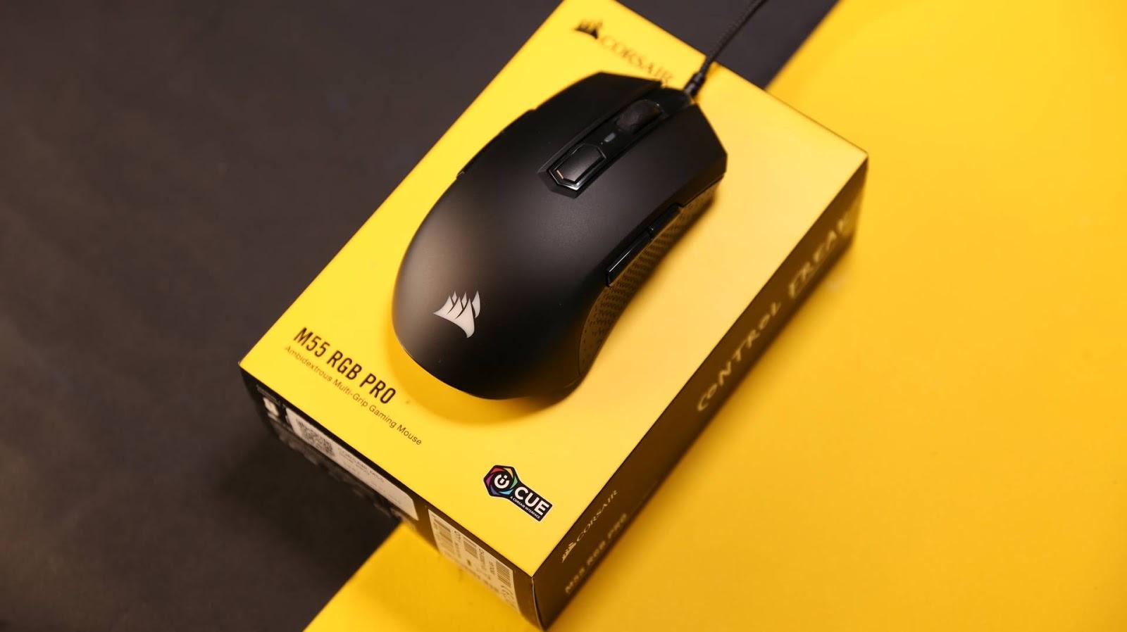 مراجعة فأرة الألعاب Corsair M55 RGB Pro