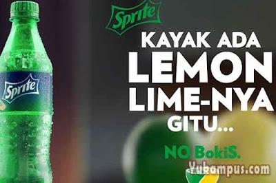 iklan sprite kayak ada lemon limenya gitu