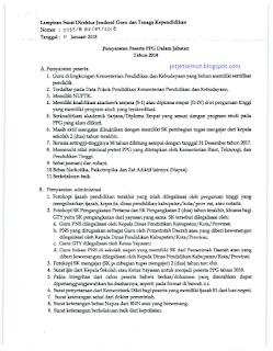 Persyaratan Peserta dan Persyaratan Administrasi PPGJ 2018