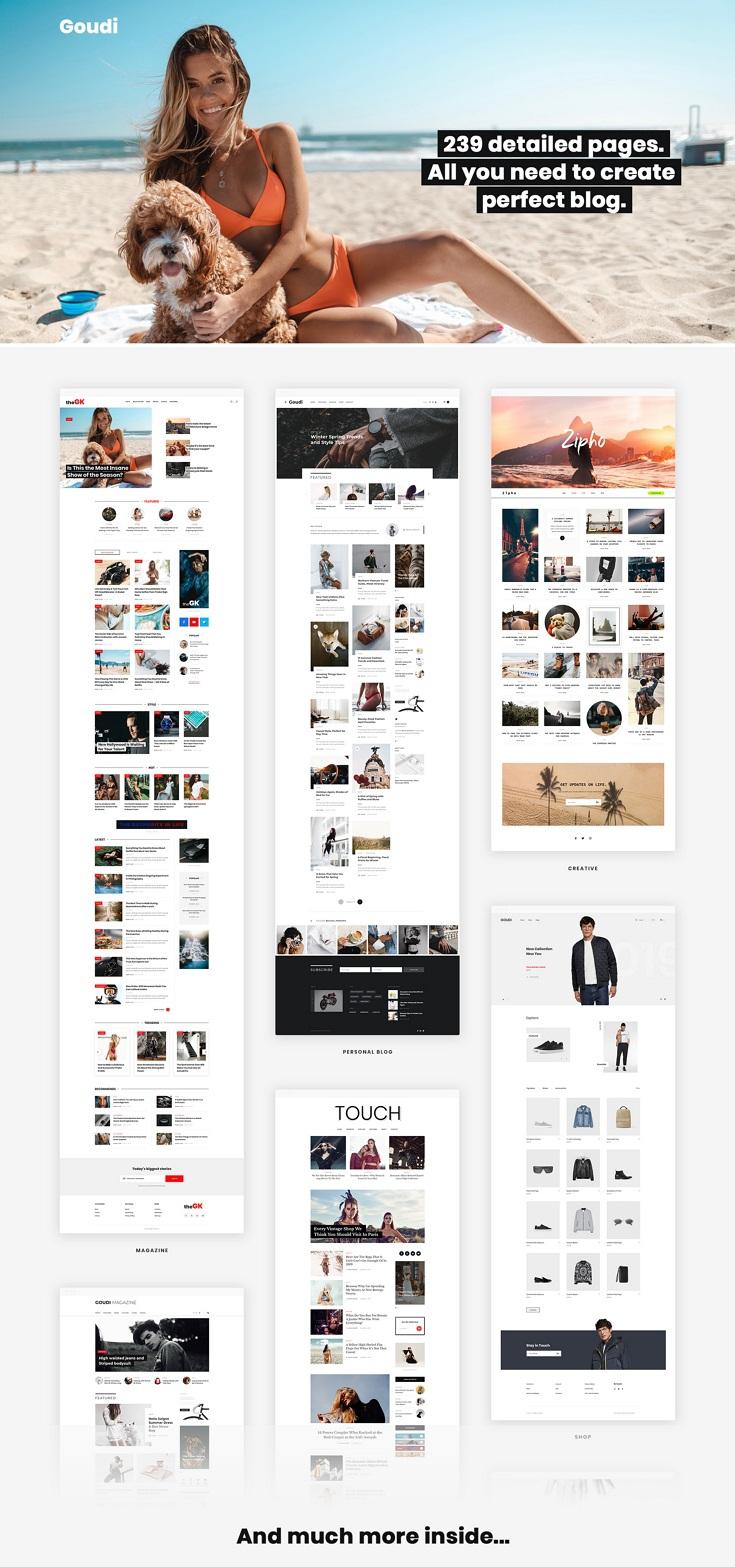 Premium Blog Magazine PSD Template