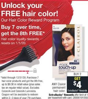 Clairol CVS Coupon Deal $1.99 1-12-1-18