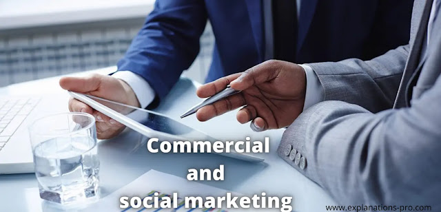 Commercial and social marketing.. Comparison of client-product relationship development