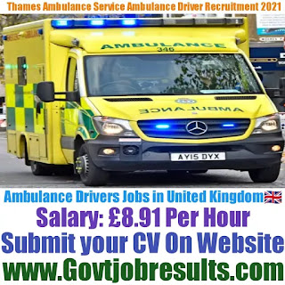Thames Ambulance Service Limited Ambulance Driver Recruitment 2021-22