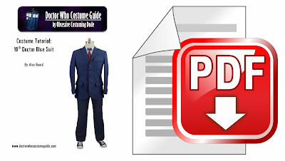 10th Doctor blue suit sewing tutorial PDF