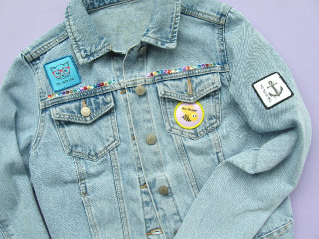Customising a denim jacket with printed patches