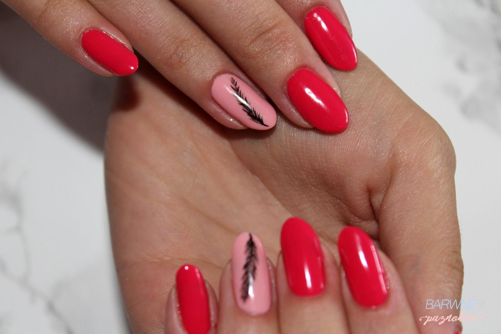 barwne paznokcie CZERWIEŃ - KRÓLOWA JESIENI - 510 RICH DOLL, 509 Happily Ever After by Stylizacje Semilac