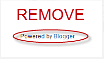 How to Remove Blogger Attribution Gadget.