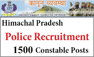 HP Police Recruitment 2016 – Apply for 1500 Constable Posts