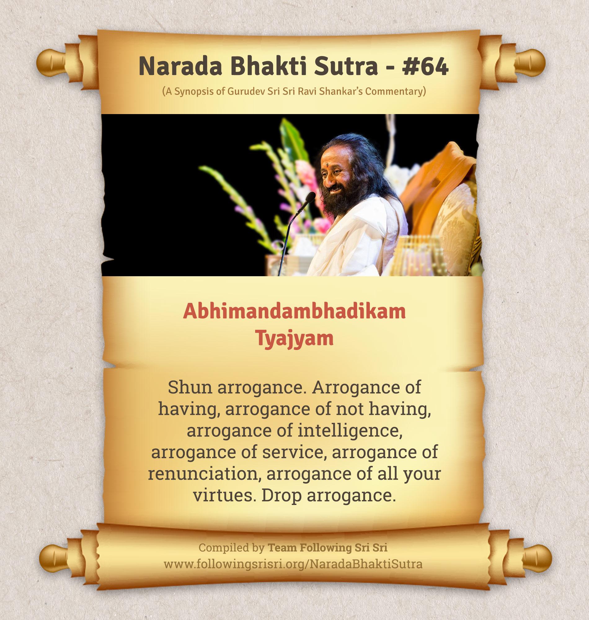 Narada Bhakti Sutras - Sutra 64