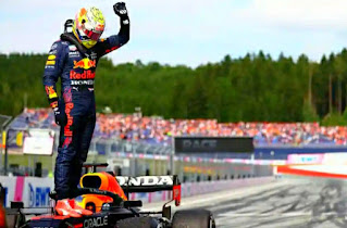 The Dutchman dominated with Valtteri Bottas second and McLaren's Lando Norris third after Lewis Hamilton suffered damage to his car  Updated 3h ago