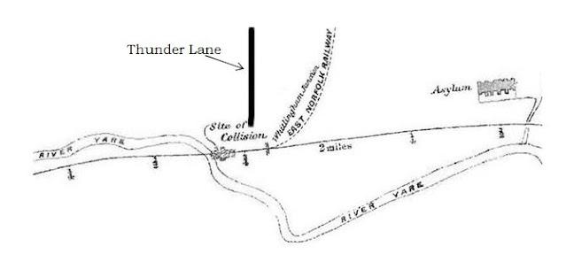 Thorpe St Andrew rail crash site