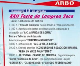Programa festa lamprea seca 2017 Arbo