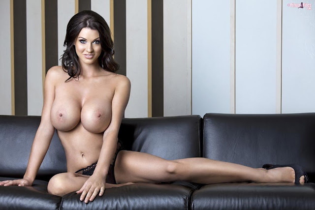 Alice Goodwin naked boobs on sofa