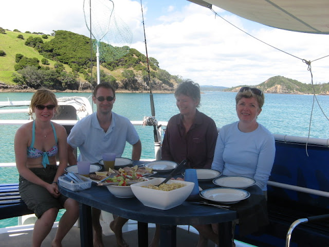 lunch on board the Manawanui,
