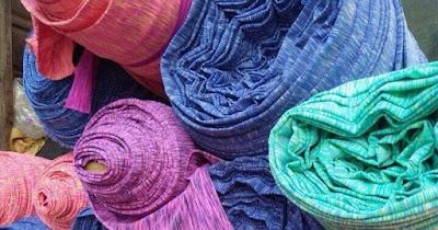 Chất liệu vải poly xược may quần leggin