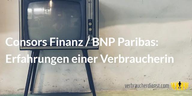 Titel: Consors Finanz / BNP Paribas: Erfahrungen einer Verbraucherin